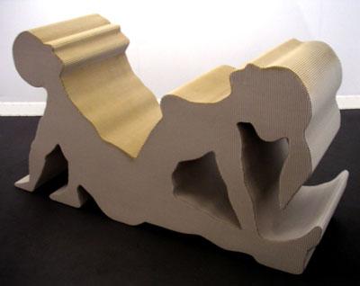 Sculptures en carton ondulé (autres qu'Eva Jospin) Chambert